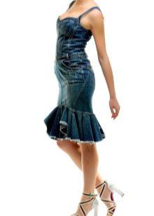 юбка-трампет с воланом