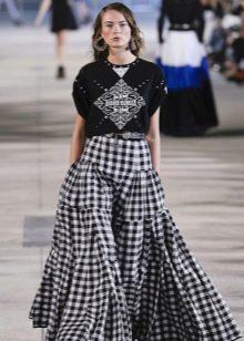 пышная юбка в крестьянском стиле