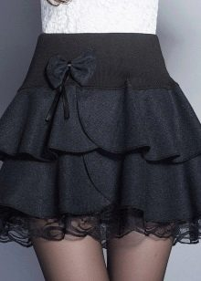 черная юбка-трампет