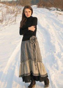 юбка-макси для зимы