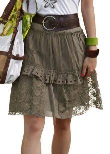 легкая юбка с воланами