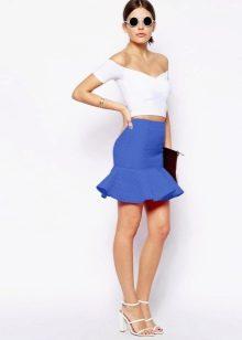 юбка с воланом снизу