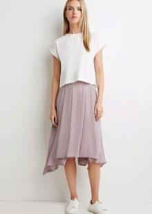 Асимметричная юбка солнце