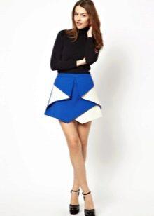 Асимметричная юбка из плотной ткани