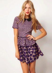 Асимметричная юбка яркой расцветки