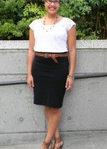 Черная юбка карандаш для полных женщин