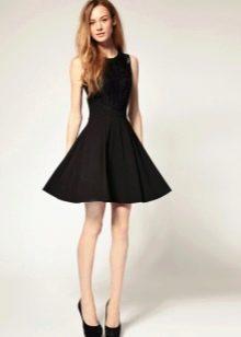 Черная короткая юбка солнце