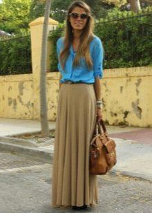 Длинная юбка полусолнце и аксессуары к ней