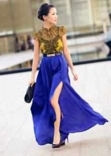 Длинная шифоновая юбка полусолнце