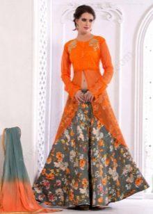 юбка-макси с цветочным принтом