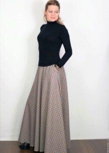 длинная юбка на холодную погоду