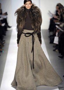 зимняя юбка-макси