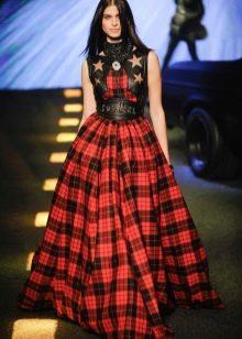 пышная юбка-шотландка