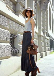 юбка-макси в городском образе