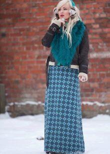 юбка в пол для зимы