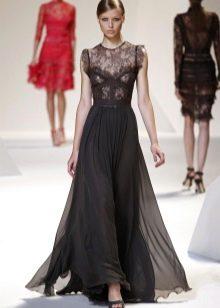 черная юбка в вечернем наряде