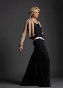 длинная юбка-плиссе