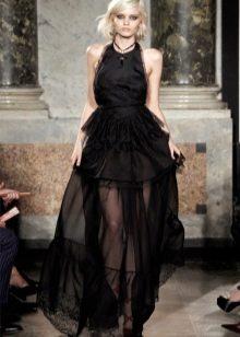 пышная черная полупрозрачная юбка