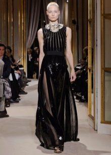 черная полупрозрачная юбка в продольную полоску
