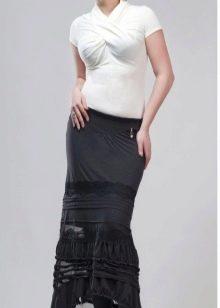 ассиметричная юбка  в пол
