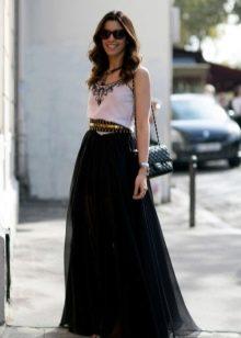 пышная юбка со стильным ремнем