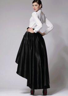 ассиметричная черная юбка