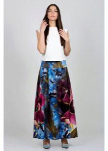 яркая длинная летняя юбка