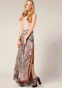 длинная летняя юбка из хлопка