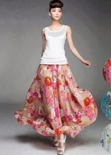 длинная летняя юбка-солнце. варианты расцветки