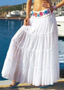 длинная летняя пляжная юбка