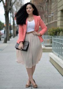 летняя юбка для полных женщин