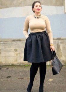 осенняя юбка для полных женщин