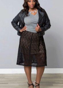 двуслойная юбка для полных женщин
