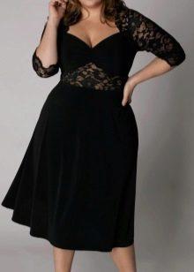 бархатная трапециевидная юбка для полных женщин