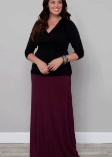 прямая юбка в пол для полных женщин