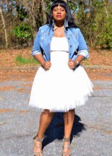 белая пышная юбка для полных женщин