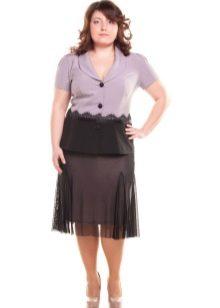 двуслойная воздушная юбка для полных женщин