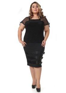 юбка-карандаш с бантами для полных женщин