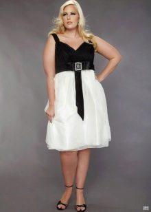 белая юбка в вечернем наряде для полных женщин