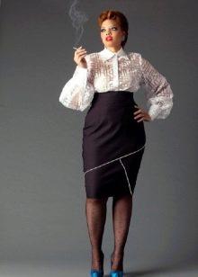 юбка-карандаш с завышеннной талией