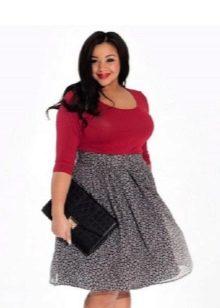 шифоновая юбка-миди для полных женщин