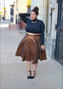 юбка-солнце для полных женщин