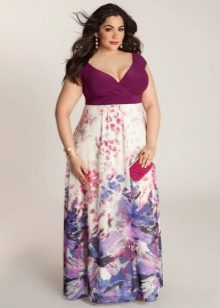 юбка-макси с цветочным принтом для полных женщин