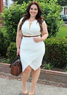 летняя белая юбка для вечера