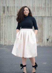 белая пышная юбка для лета