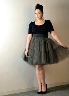 нарядная юбка из фатина для полных женщин