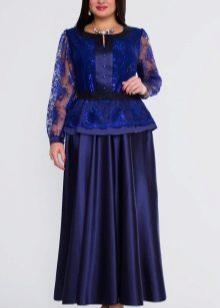 длинная атласная юбка для полных женщин