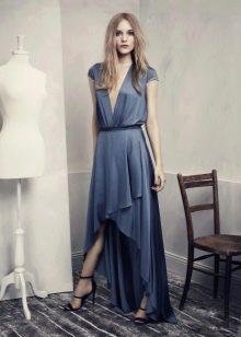 Асимметричное платье с запахом