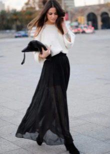 Длинная юбка для девушек с фигурой типа Груша