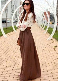 Длинные юбки для девушек с фигурой типа Груша